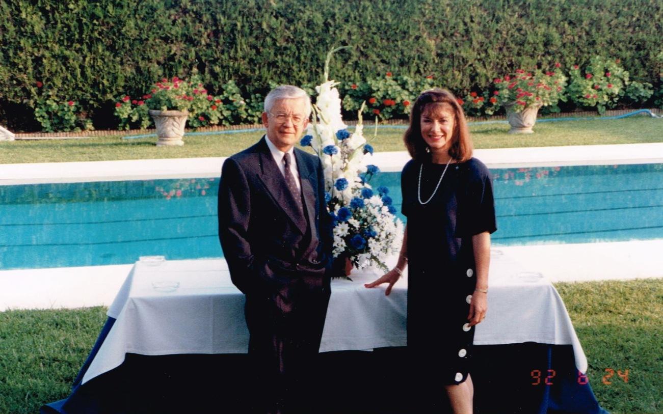 Avec mon épouse Marie-France Rochon, 24 juin 1995