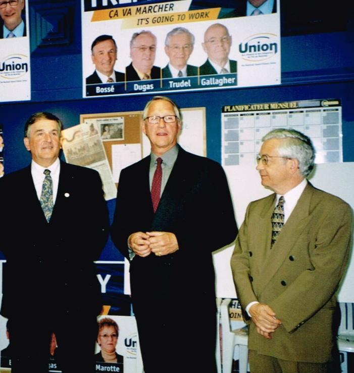 Campagne 2001 Georges Bossé et Gérald Tremblay