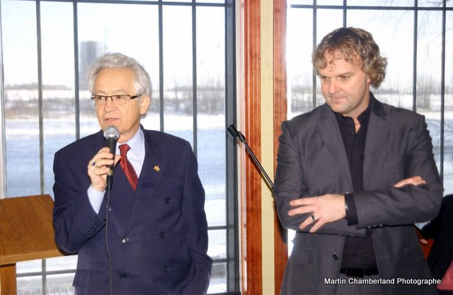Avec Daniel Germain, 2010