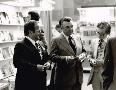Avec François Cloutier, délégué général du Québec en France, 1977