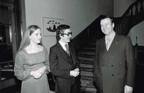 Avec mon épouse Florence Arès et Jean Deschamps, Bruxelles 1978