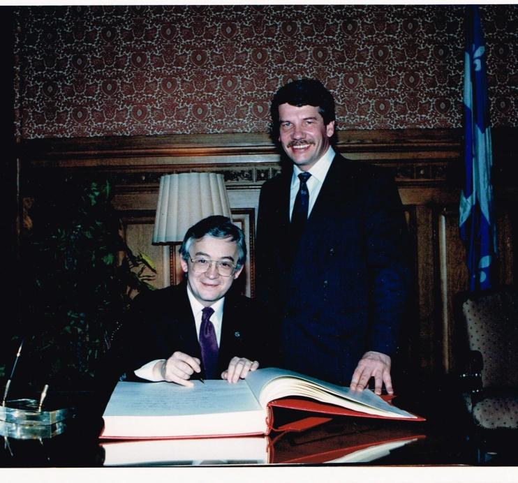 Avec Jean Doré, maire de Montréal, 1988