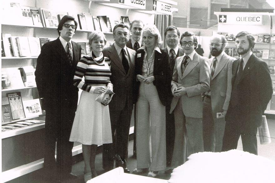 L'équipe du Québec au Festival du livre de Nice, mai 1977