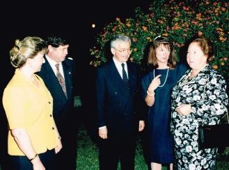 Avec la mairesse d'Espartinas, juin 1992