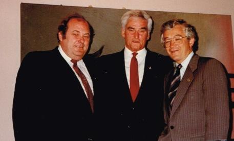 Michel Bissonnet et le maire Yves Ryan, 1989