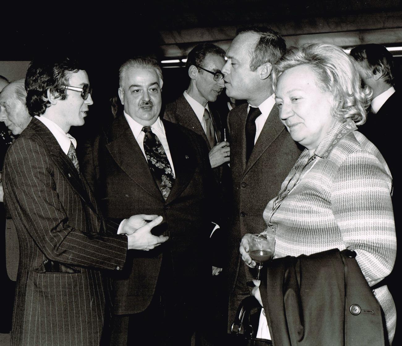 Avec les ministres de la culture flamand et wallon, FILM 1976