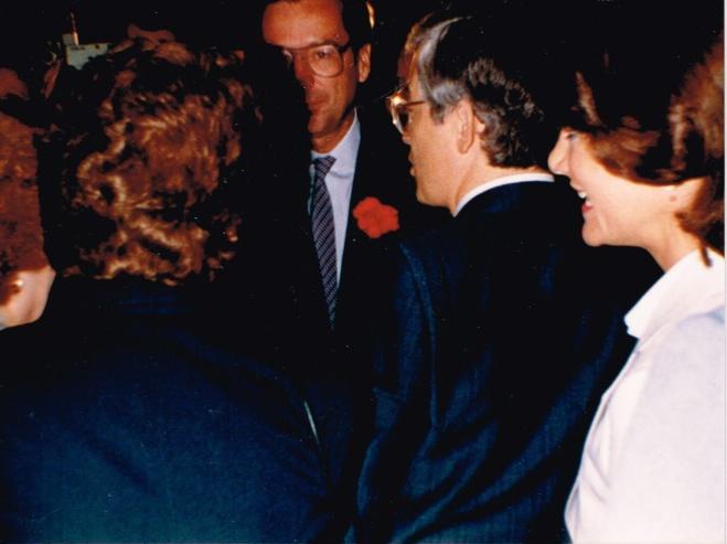 Avec Robert Bourassa, 14 juin 1985