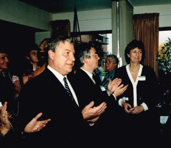 Avec Yvon Lamarre et Lise Bacon, 1988