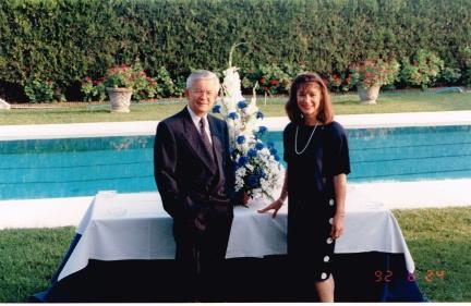 À la Résidence du Québec 24 juin 1992 avec Marie-France Rochon